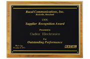 1995 - Supplier Recognition Award