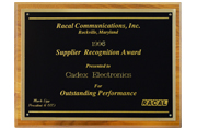 1996 - Supplier Recognition Award