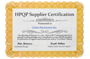 2012 - HPQP Supplier Certification
