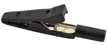 Alligator Clip (Black) w/2mm Banana Jack - 10 pak